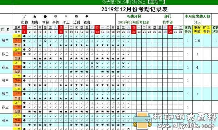 实用EXCEL模板分享(人事,培训,工资表,考勤,小学题)图片 No.4