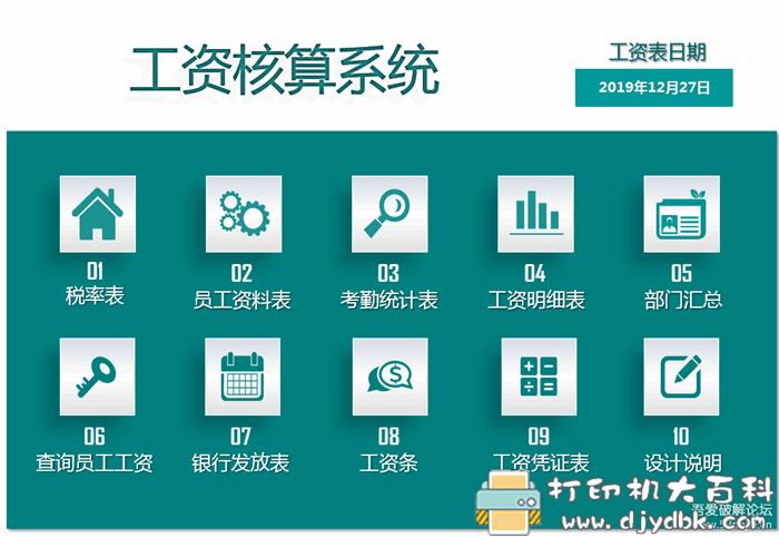 [Windows]员工工资核算自动化系统含税率图片 No.2