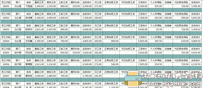 [Windows]员工工资核算自动化系统含税率图片 No.3