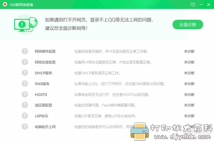 [Windows]360断网急救箱,360宽带测速器绿色单文件版图片 No.2