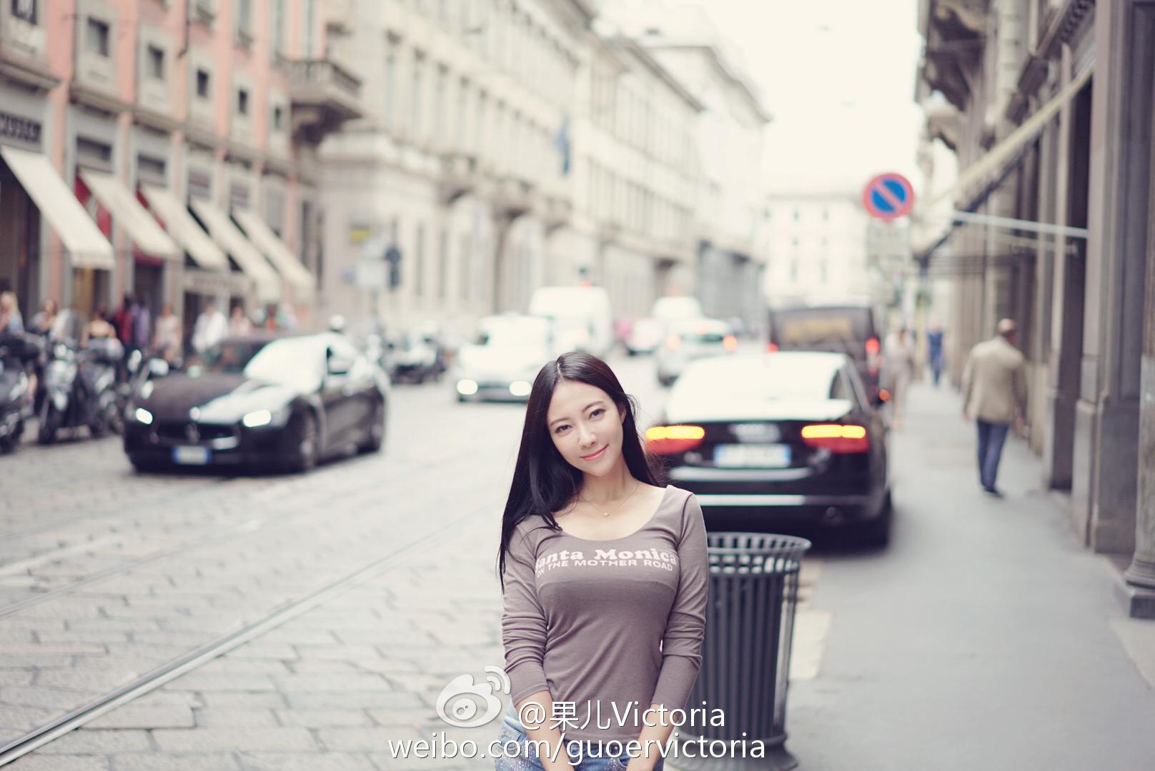 果儿Victoria 米兰这个城市虽然是时尚之都但给人感觉更多_美女福利图片