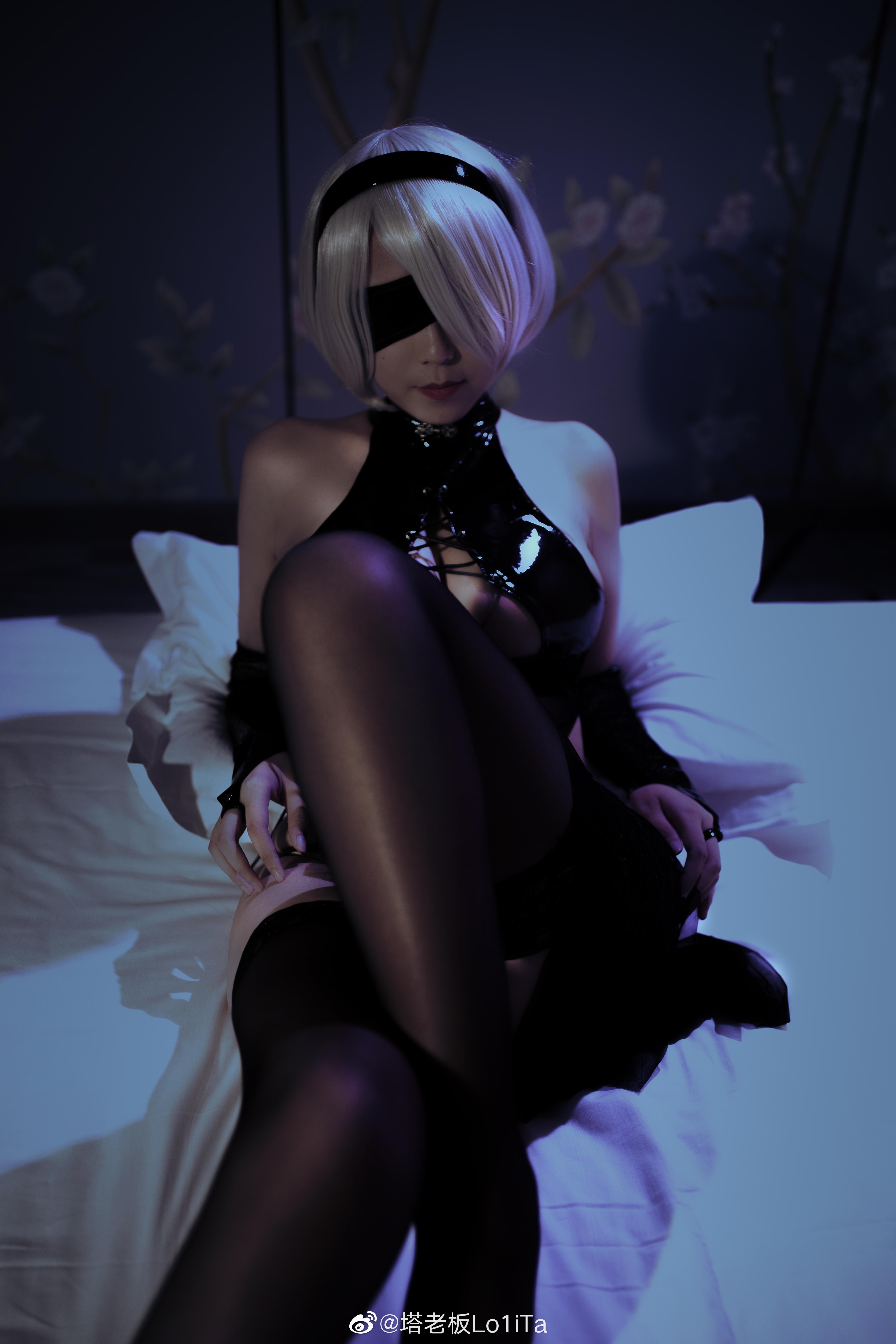 万圣节2b小姐姐也来凑个热闹(⁄ ⁄•⁄ω⁄•⁄ ⁄) Cosplay-第3张