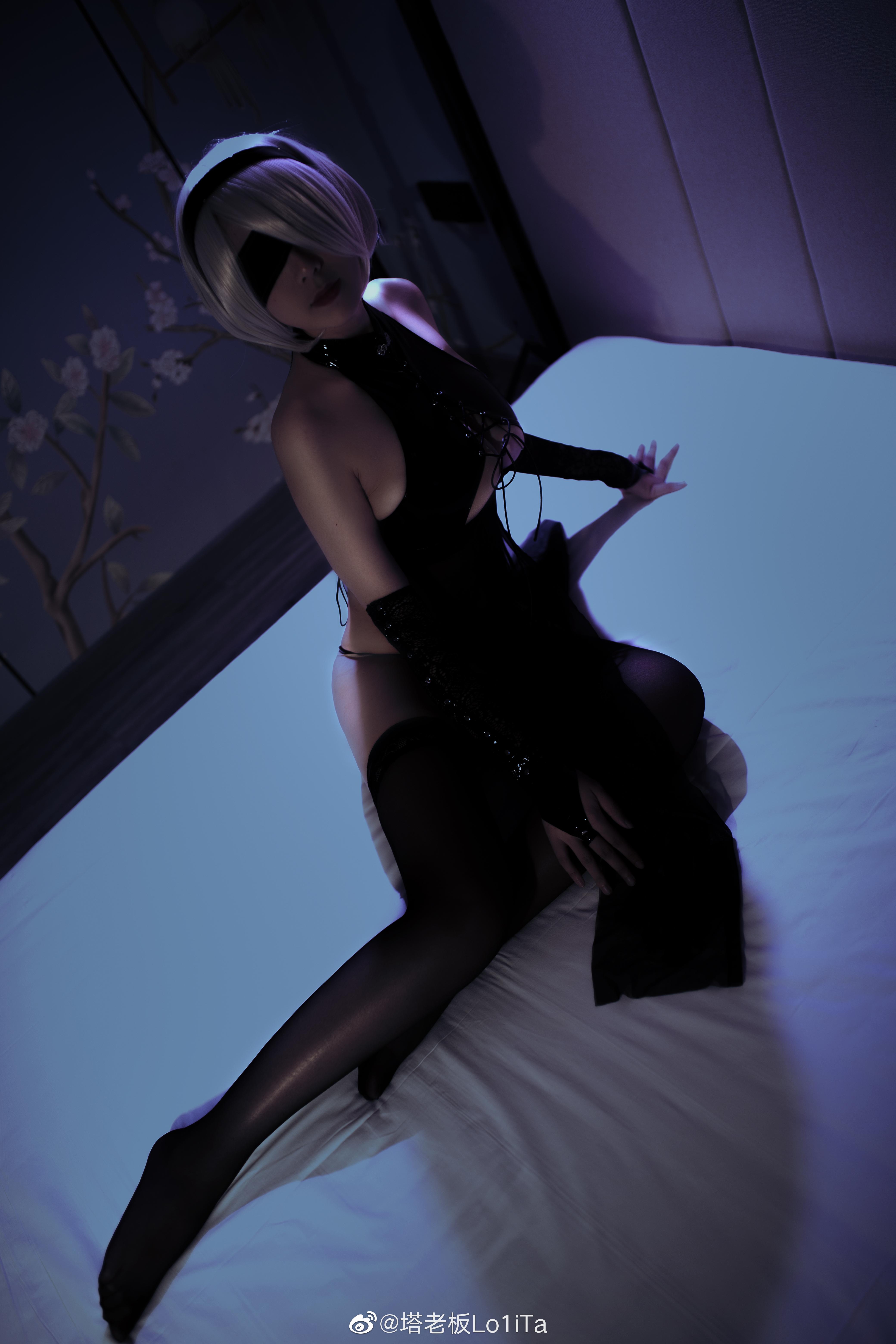 万圣节2b小姐姐也来凑个热闹(⁄ ⁄•⁄ω⁄•⁄ ⁄) Cosplay-第6张