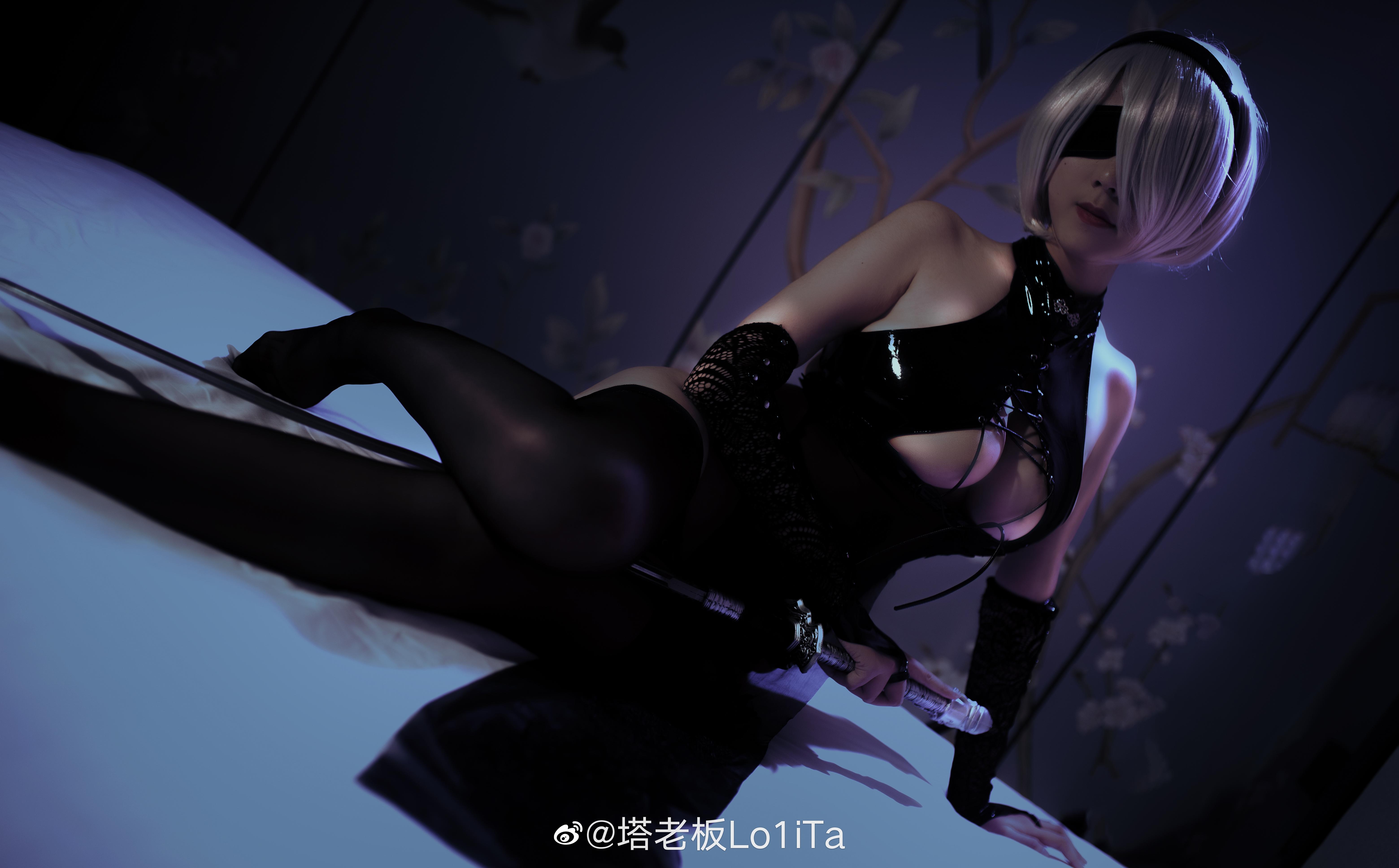 万圣节2b小姐姐也来凑个热闹(⁄ ⁄•⁄ω⁄•⁄ ⁄) Cosplay-第8张