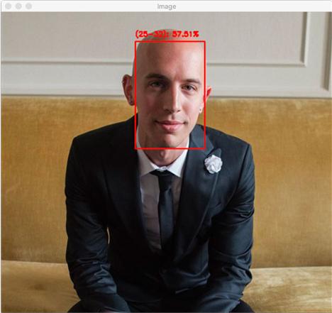 图5:我30岁时的照片,OpenCV年龄检测器正确识别了我的年龄