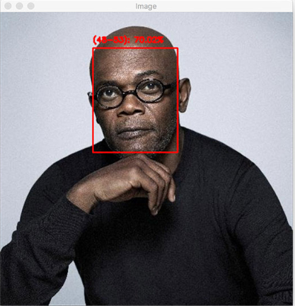 图7:使用OpenCV通过深度学习进行年龄预测并不总是准确的,正如Samuel L. Jackson的照片所证实的,年龄预测会受很多因素影响