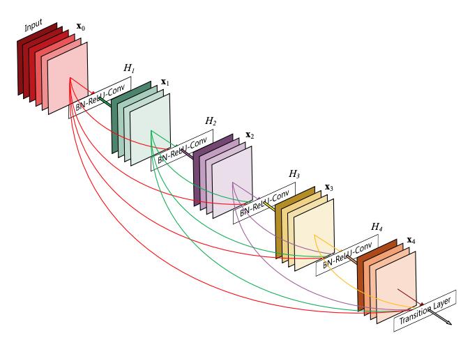 图注:DenseNet网络结构