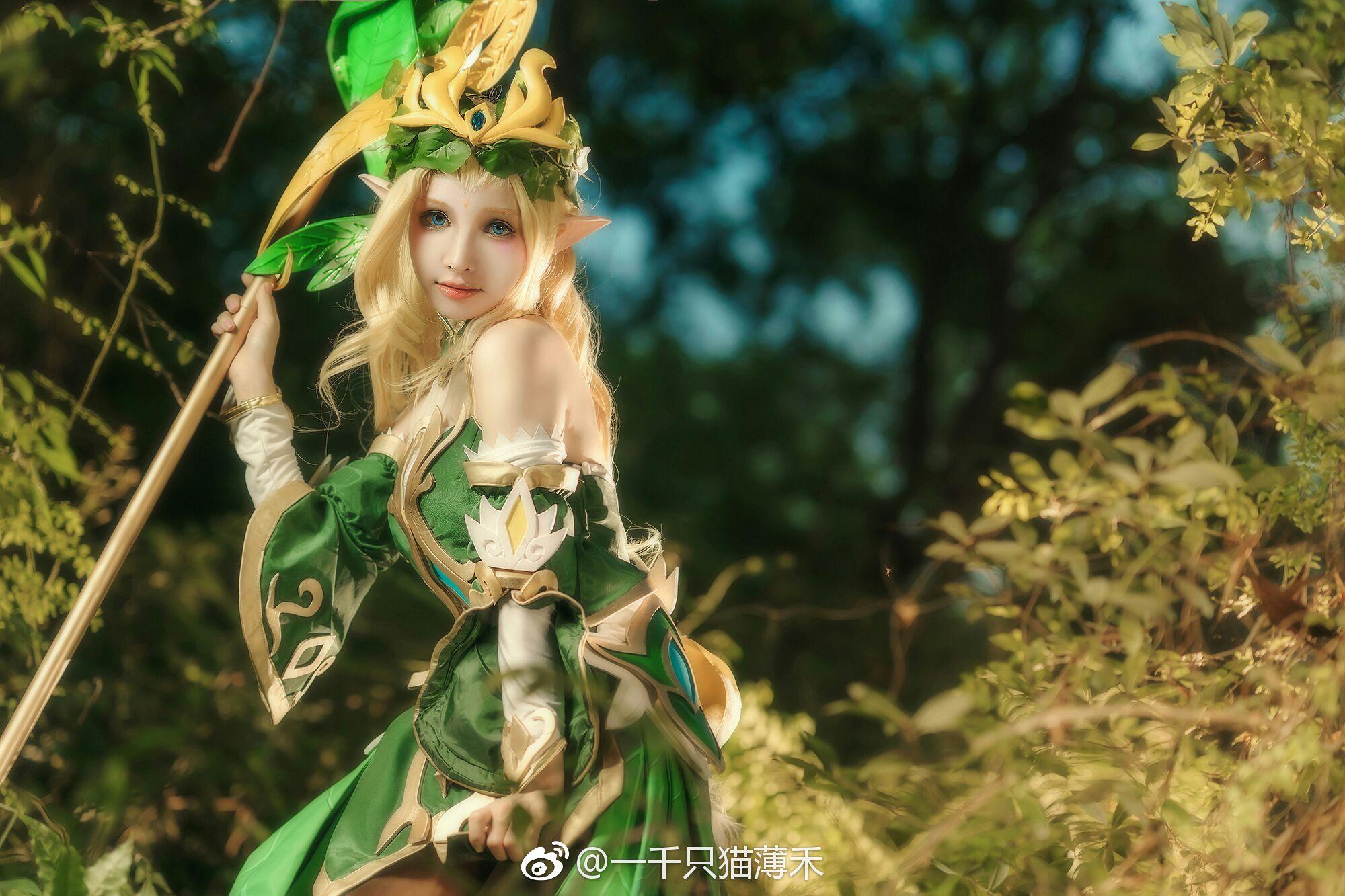 【cos正片】王者荣耀 王昭君精灵公主cos欣赏 cn:一千只猫薄禾 cosplay-第5张