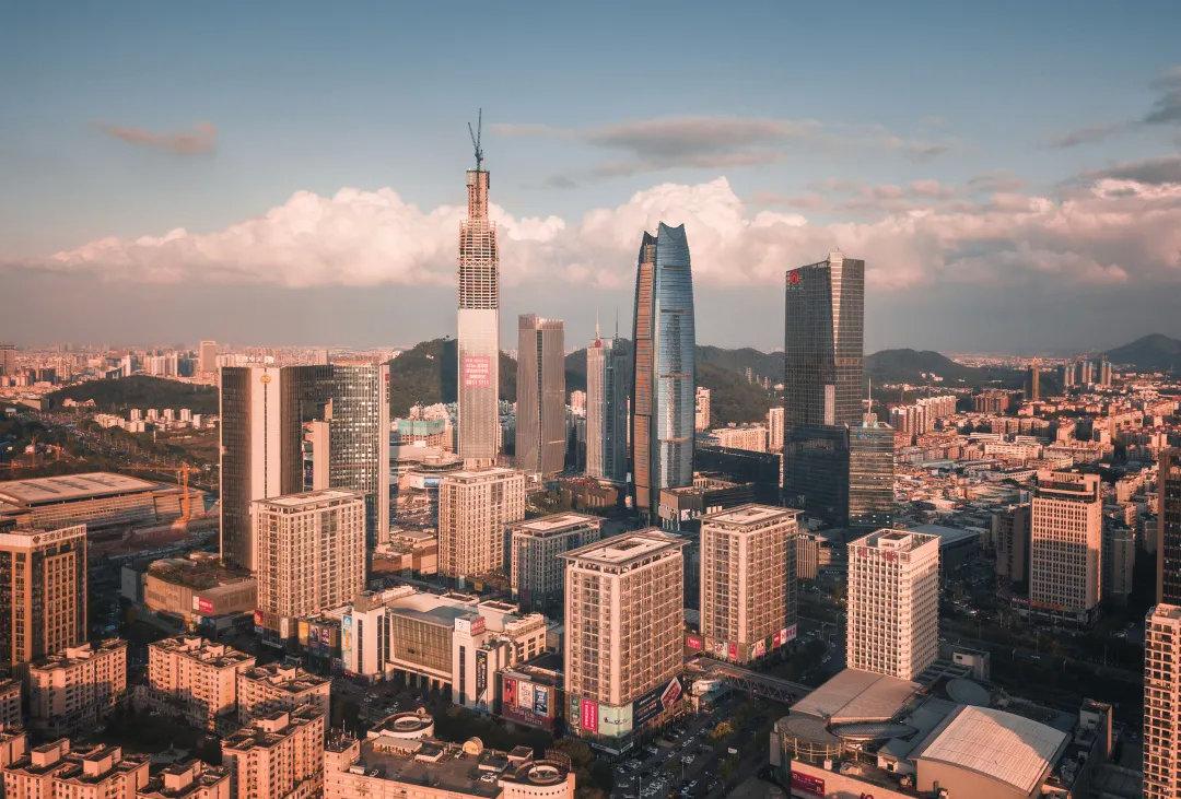 广东东莞市,中国国际贸易中心,高楼林立