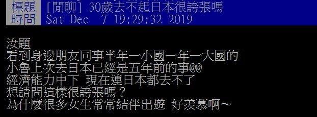 女生月入3萬狂出國!他嘆「30歲還去不起日本」 網曝關鍵