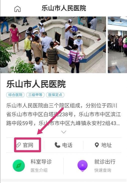 网传乐山市人民医院官网涉黄,实为恶意注册站!