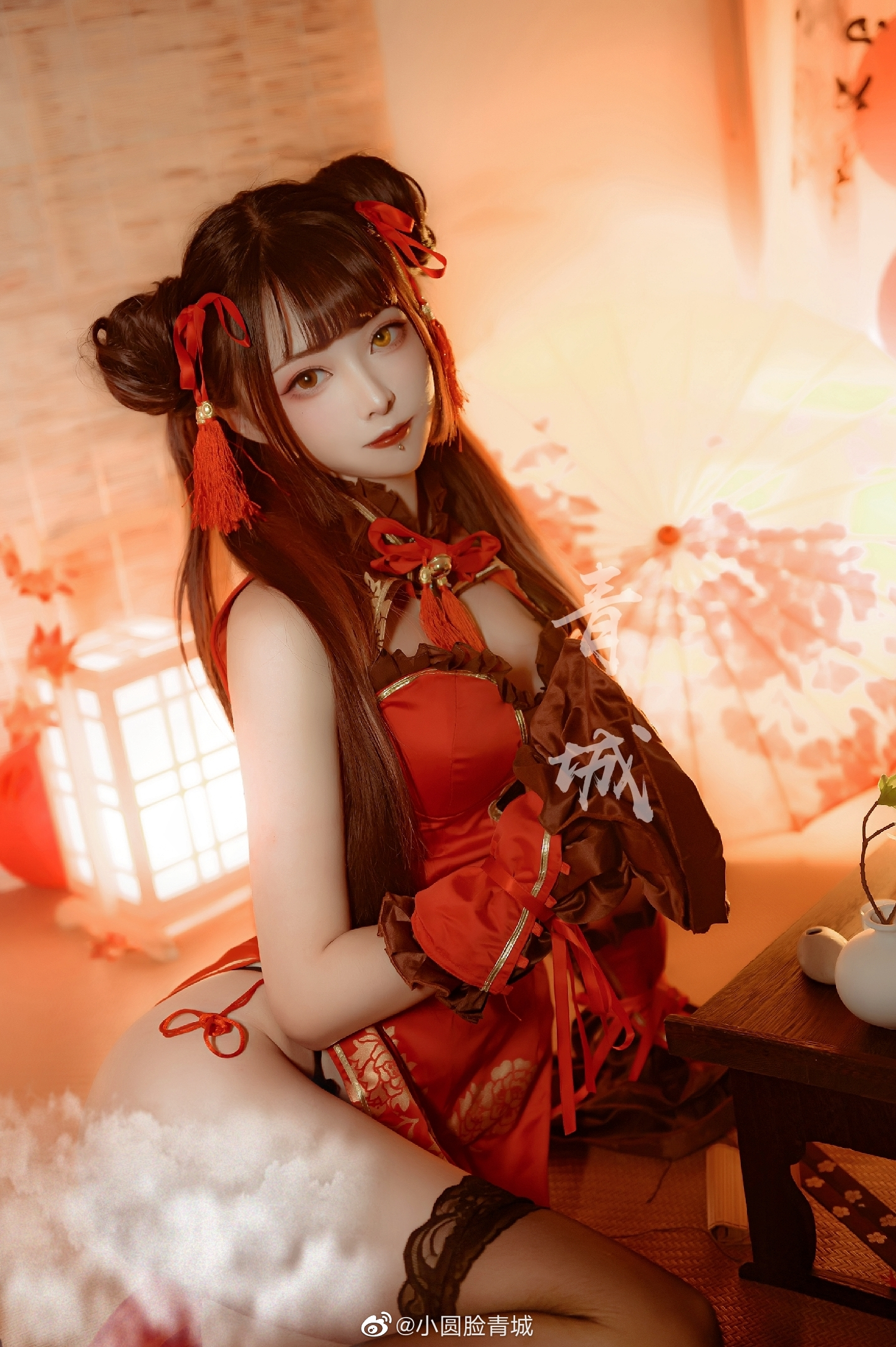 高跟黑丝旗袍时崎狂三Cosplay(9P)
