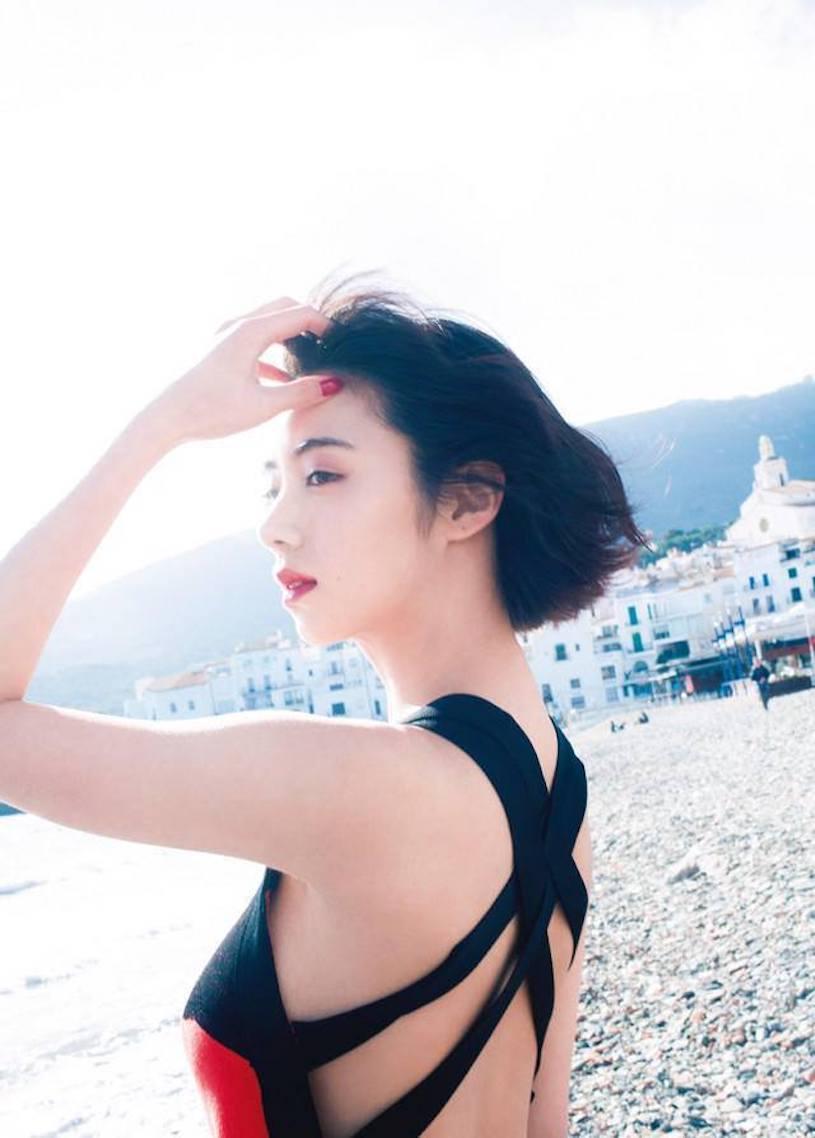 日本新一代G混血女神池田依来沙西班牙旅拍 网络美女 第2张