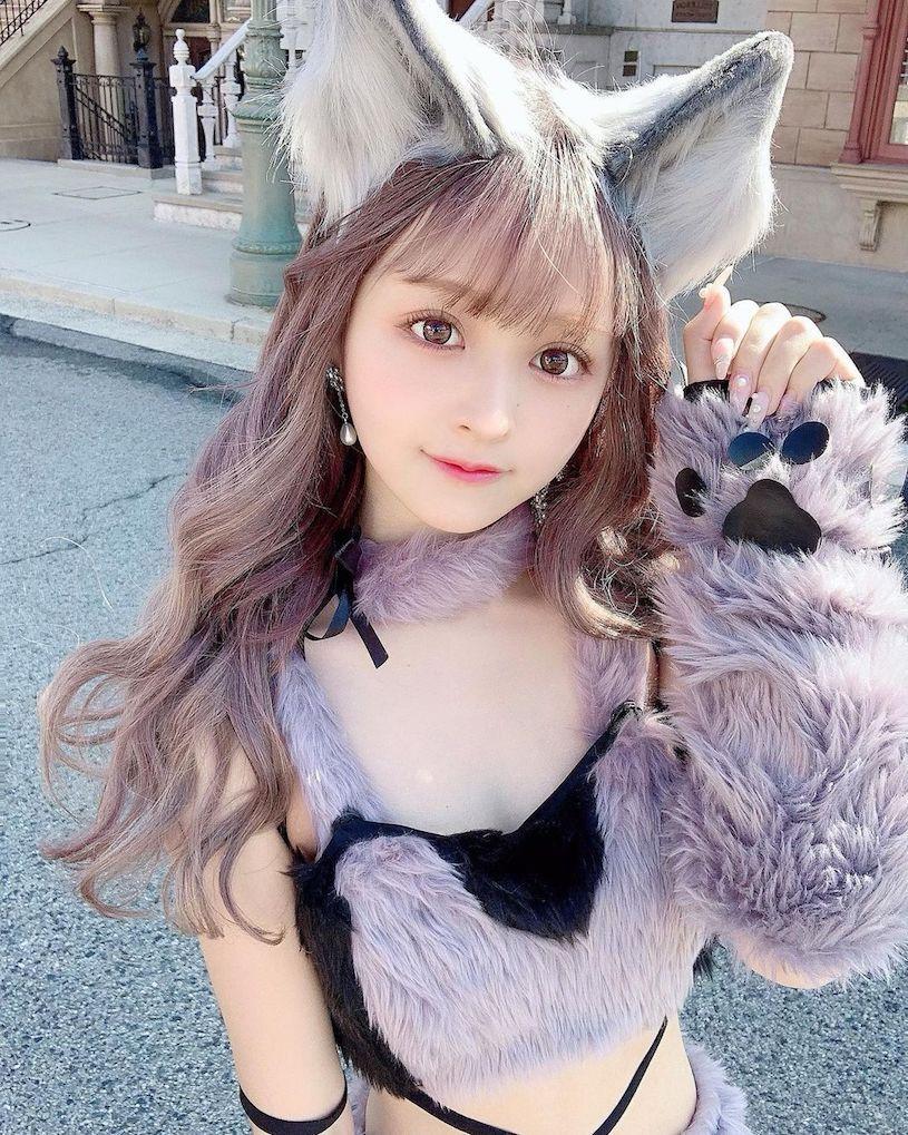 日本樱花妹Bunny可爱的颜值根本就是漫画中的洋娃娃 妹子图 热图4