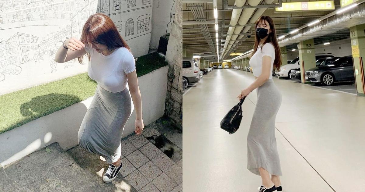 韩国网红美女from_ayla丰满的身材停车场美照