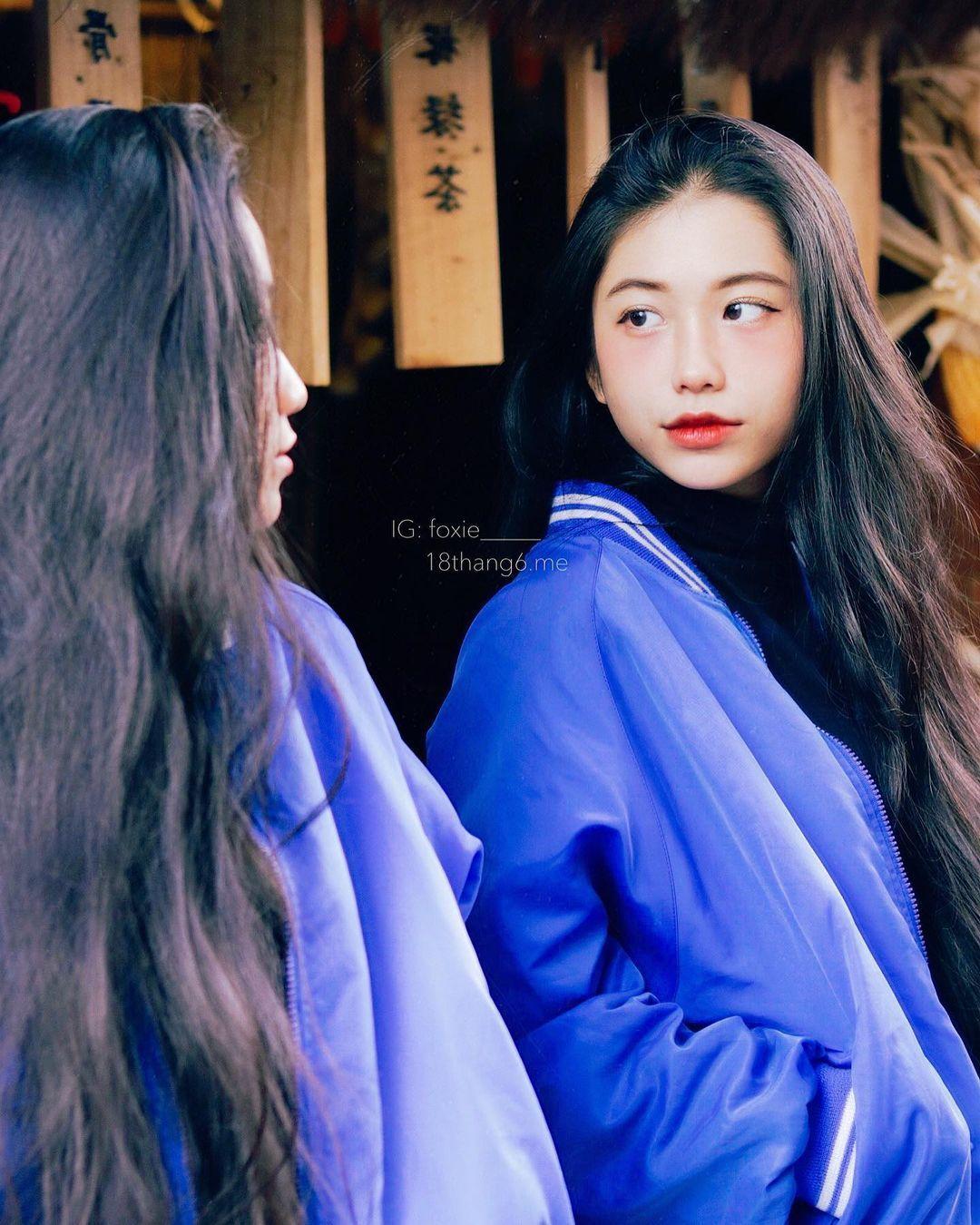 天菜越南妹「Kim Anh」迷蒙眼神仿佛随时在放电空灵气质更是无比疗愈人心 养眼图片 第11张