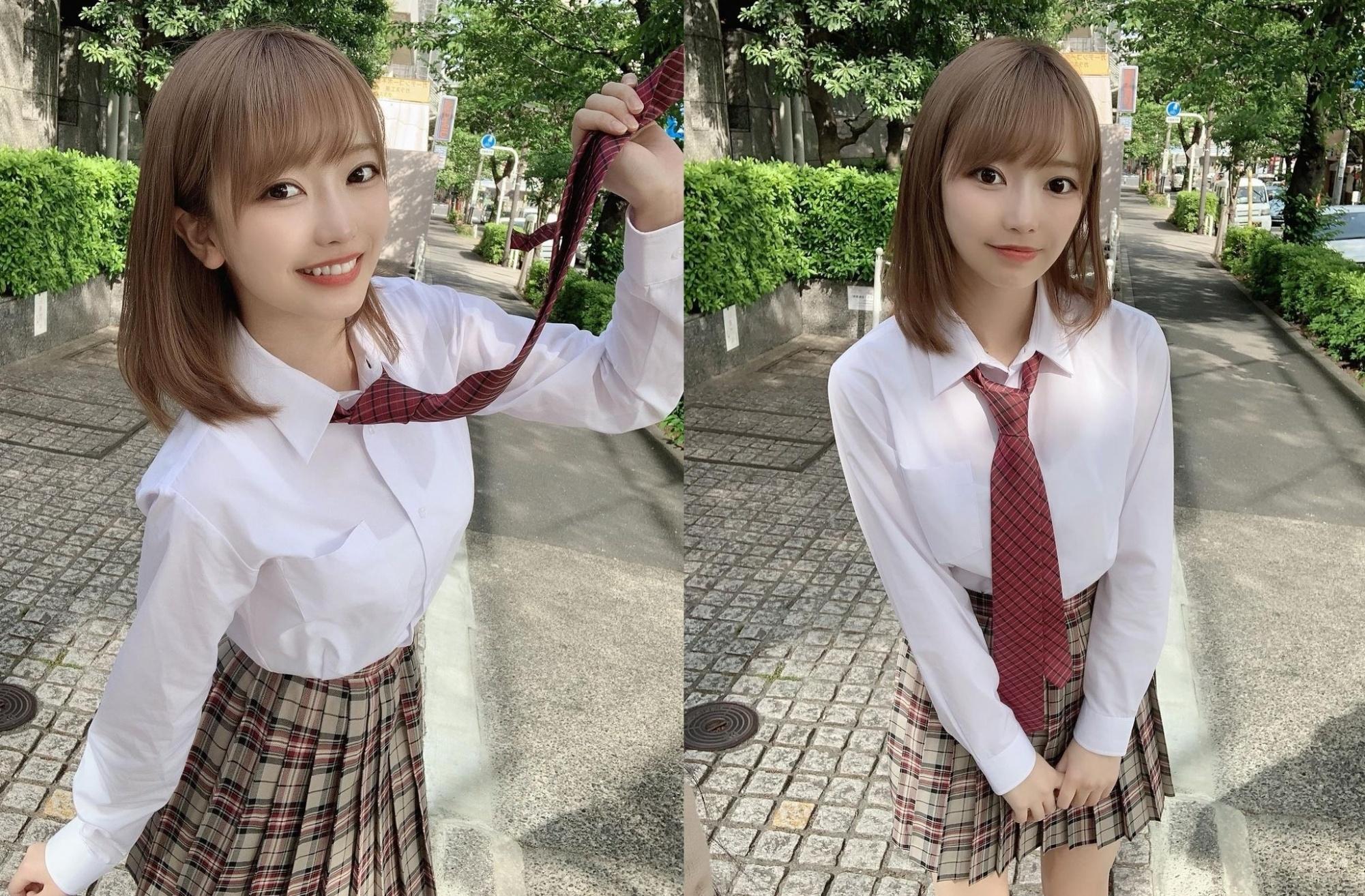 制服高中妹「吉沢朱音」清纯气质女友感爆棚 「甜萌灿笑」让人忍不住怦然心动-喵喵女