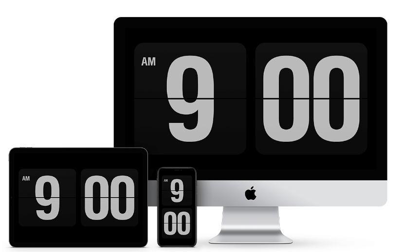 高颜值屏保时钟程序Fliqlo  第1张