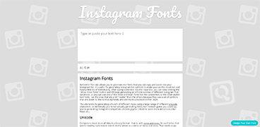 Instagram风格字体生成器-IGFonts.io 技术控 第1张