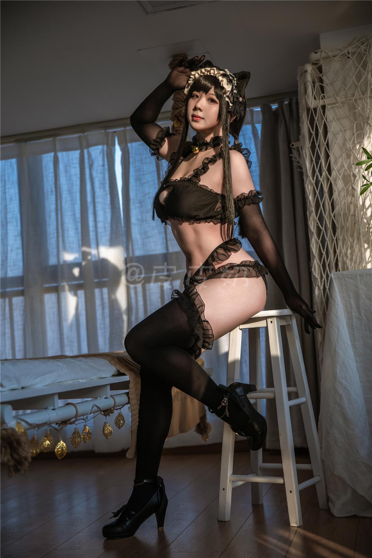皮皮奶可可爱了啦 – 黑猫情趣蕾丝私房主题[55P/1.08G]-觅爱图