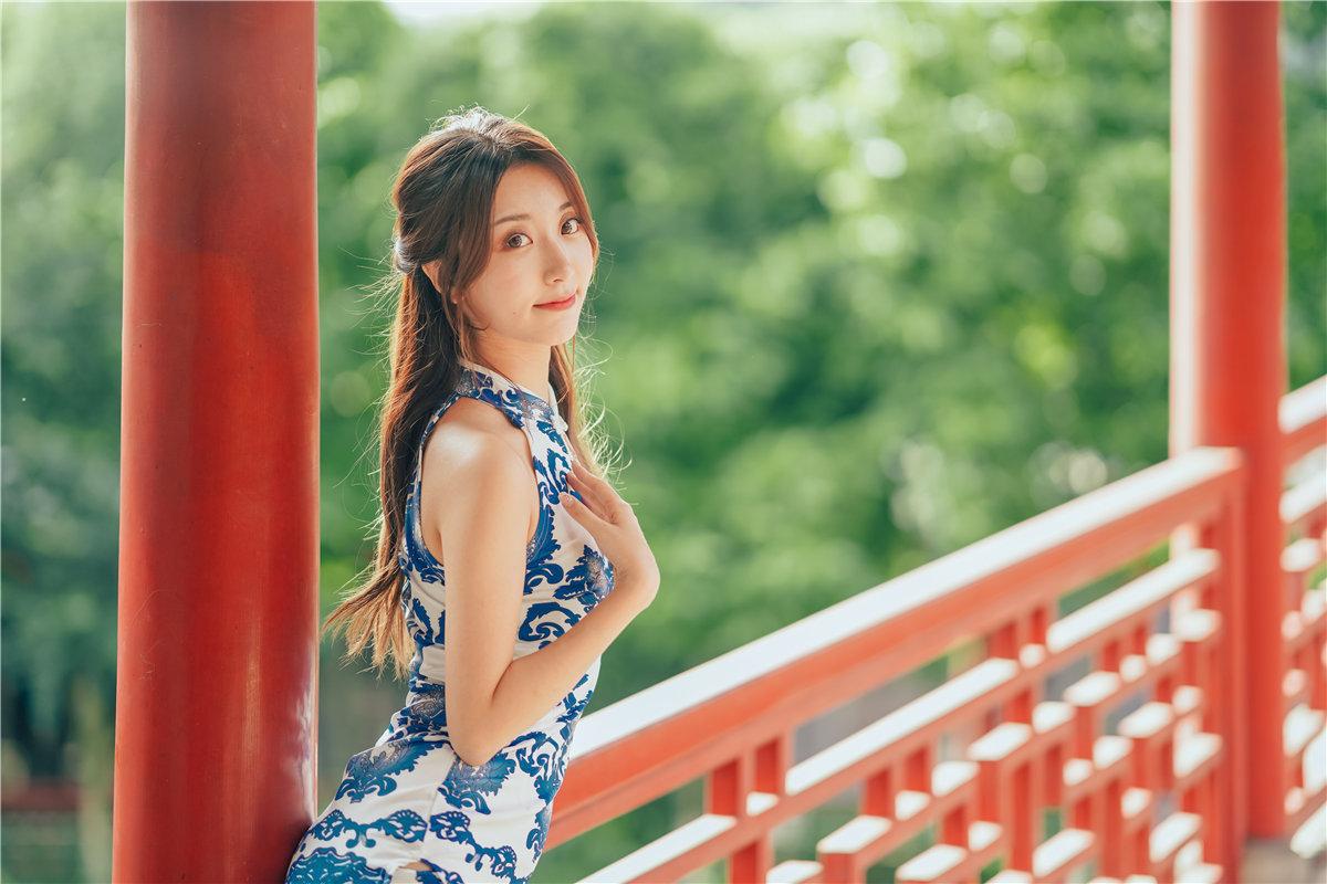 黑川 青花旗袍主题摄影