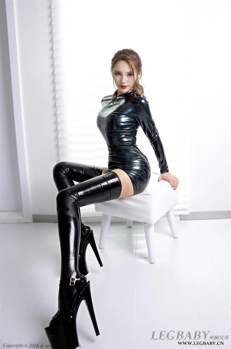 【套图分享】[LEGBABY美腿宝贝]V001 陈雅漫 乳胶裙 47P