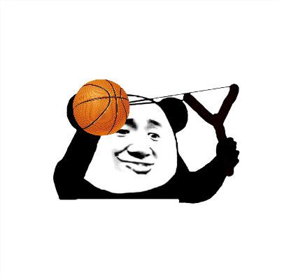 篮球 - 熊猫头弹弓发射!