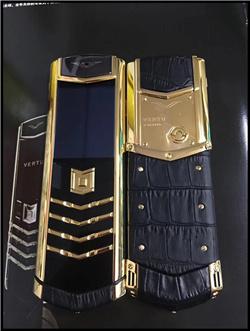 精仿纬图总裁签名手机高仿VERTU【黑色】【黄金版】【鳄鱼皮】【隐藏键盘】