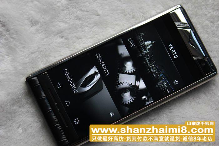 精仿.高仿.山寨 高仿Vertu Aster t手机 【银边】【黑色】【鳄鱼皮】实拍图片