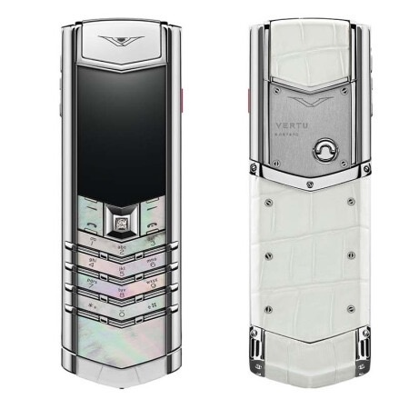 高仿威图Signature系列白色母贝白色鳄鱼皮精仿手机(京东同款14万)