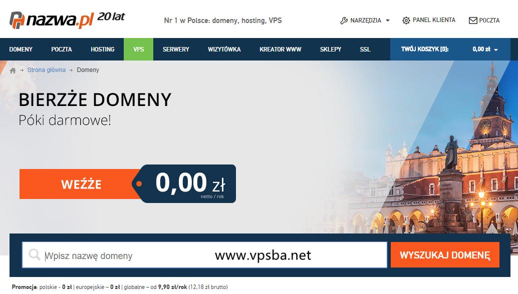 nazwa:免费注册2个.pl域名和2个.eu域名