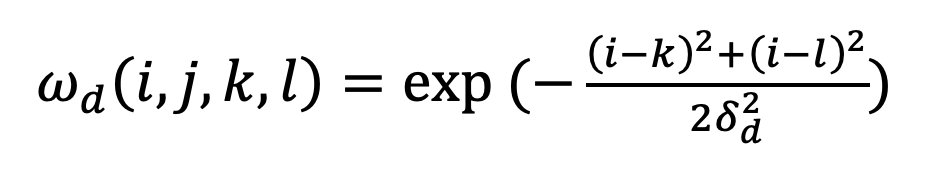双边滤波原理及python实现