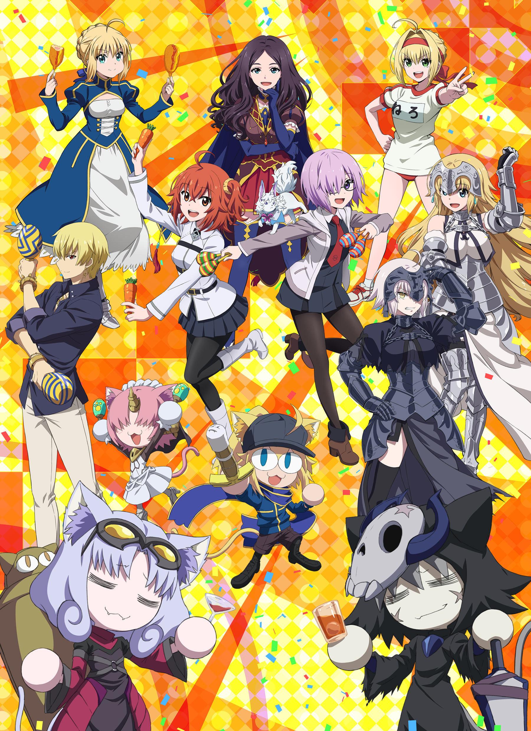 OVA动画「Fate/Grand Carnival」新主视觉图公开,「第二特异宴 夜之特异点 歌舞伎町」先行图公开