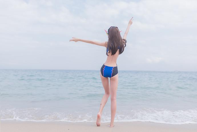 死库水 沙滩少女的超长美腿