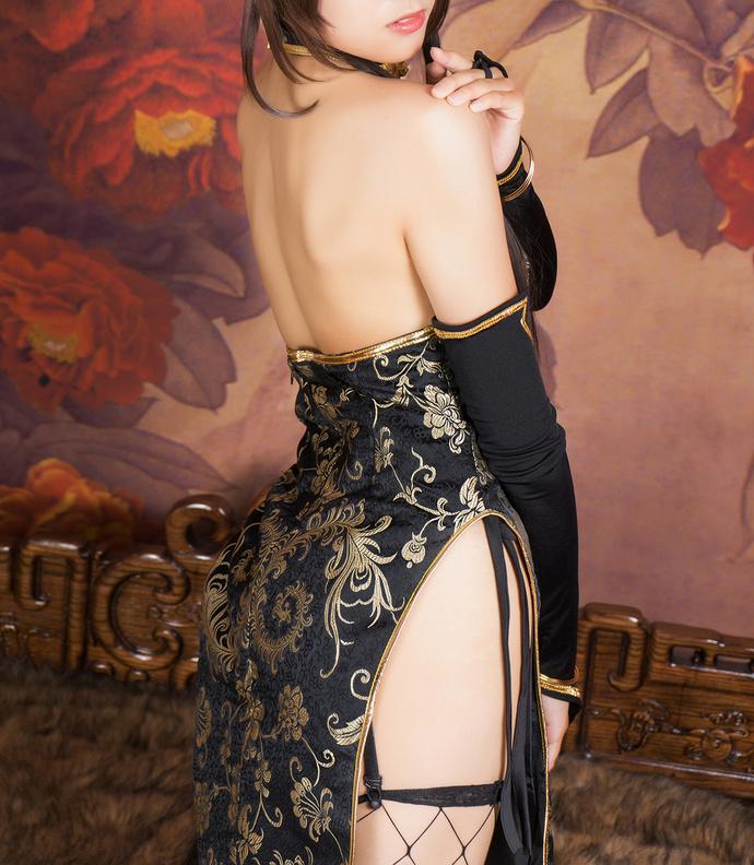 cos 黑金旗袍 清纯与性感共存 少女二次元