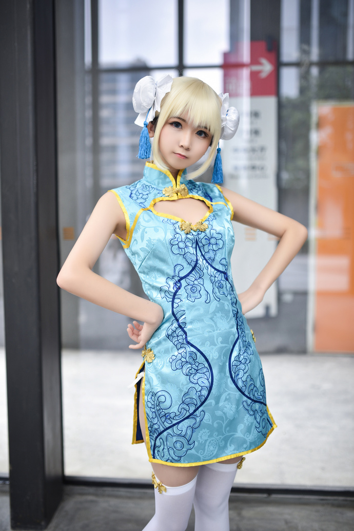 超卡哇伊的旗袍小萝莉 清纯丝袜
