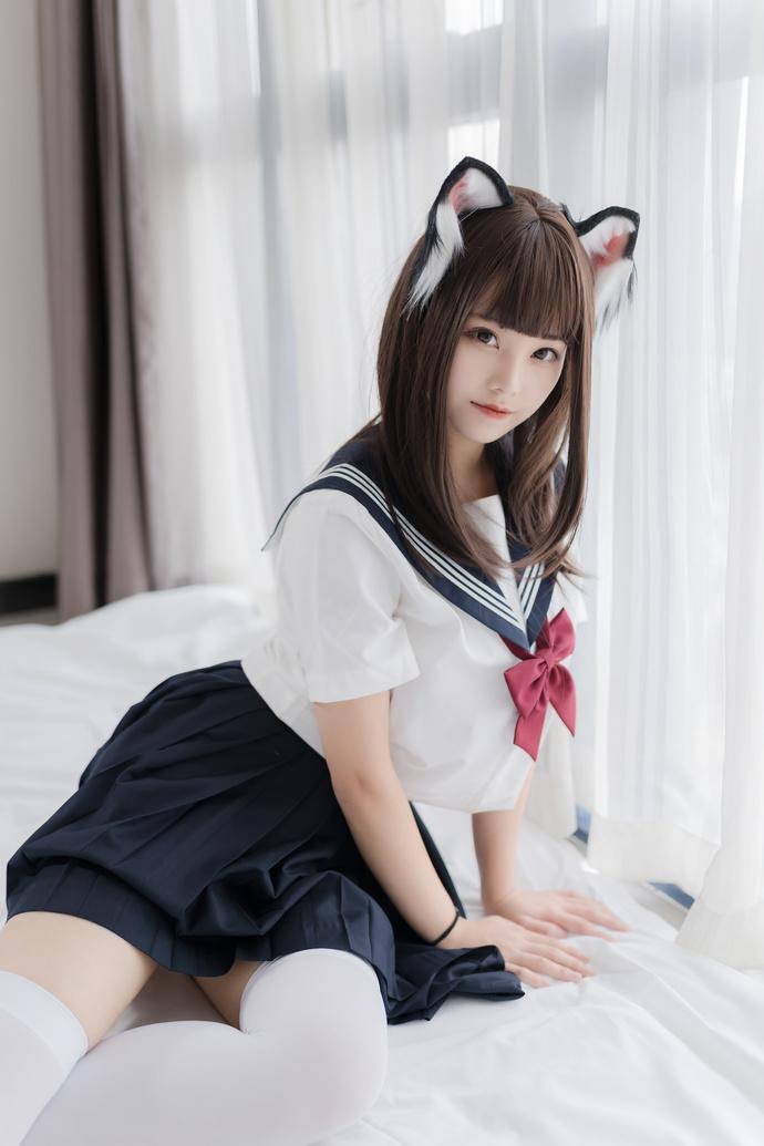 喵糖映画 VOL-002 JK 白丝小狐狸 清纯丝袜