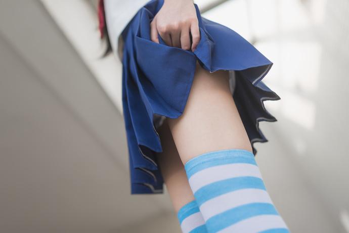风之领域-034 蓝白丝袜制服少女写真 清纯丝袜