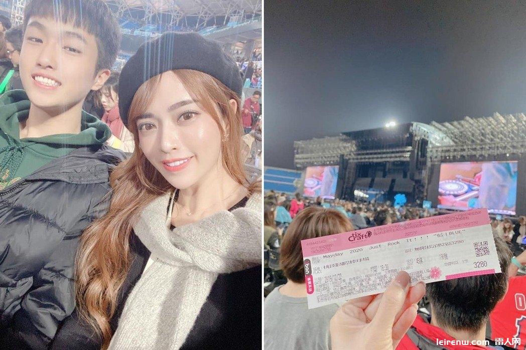辣媽帶兒看五月天演唱會 網見「女神」:根本姐弟!