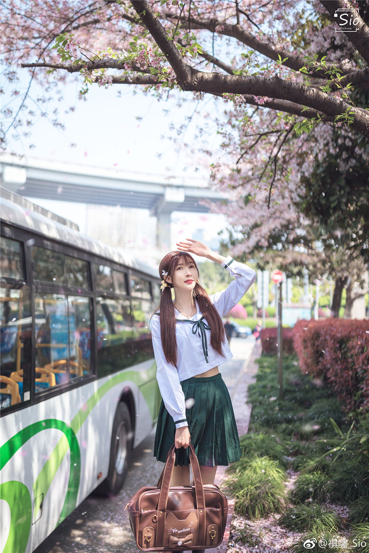 斗鱼女主播@王羽杉 JK樱花一日游插图1