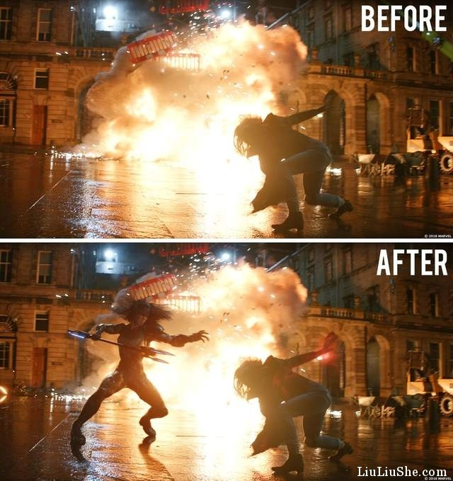 《复仇者联盟:无限之战》特效前后视频公开,没有这些想像就没有10年大作!