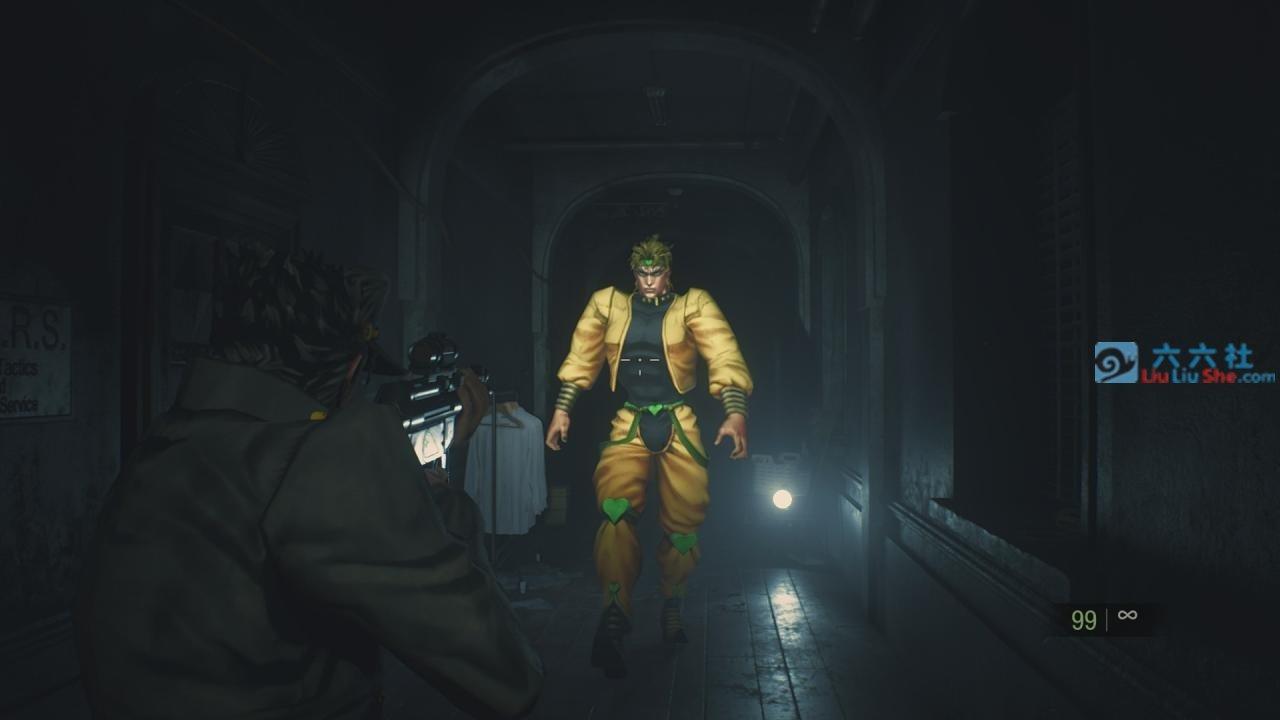 无违和感的《JoJo的奇妙冒险》模组,让「恶灵古堡2重制版」多了点喜感!