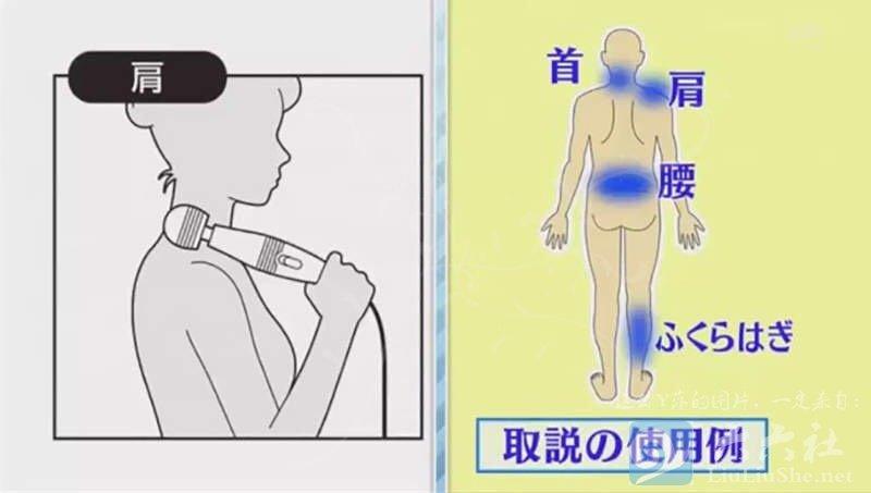 看看官方商品说明书,介绍是用在肩、颈、腰、小腿。