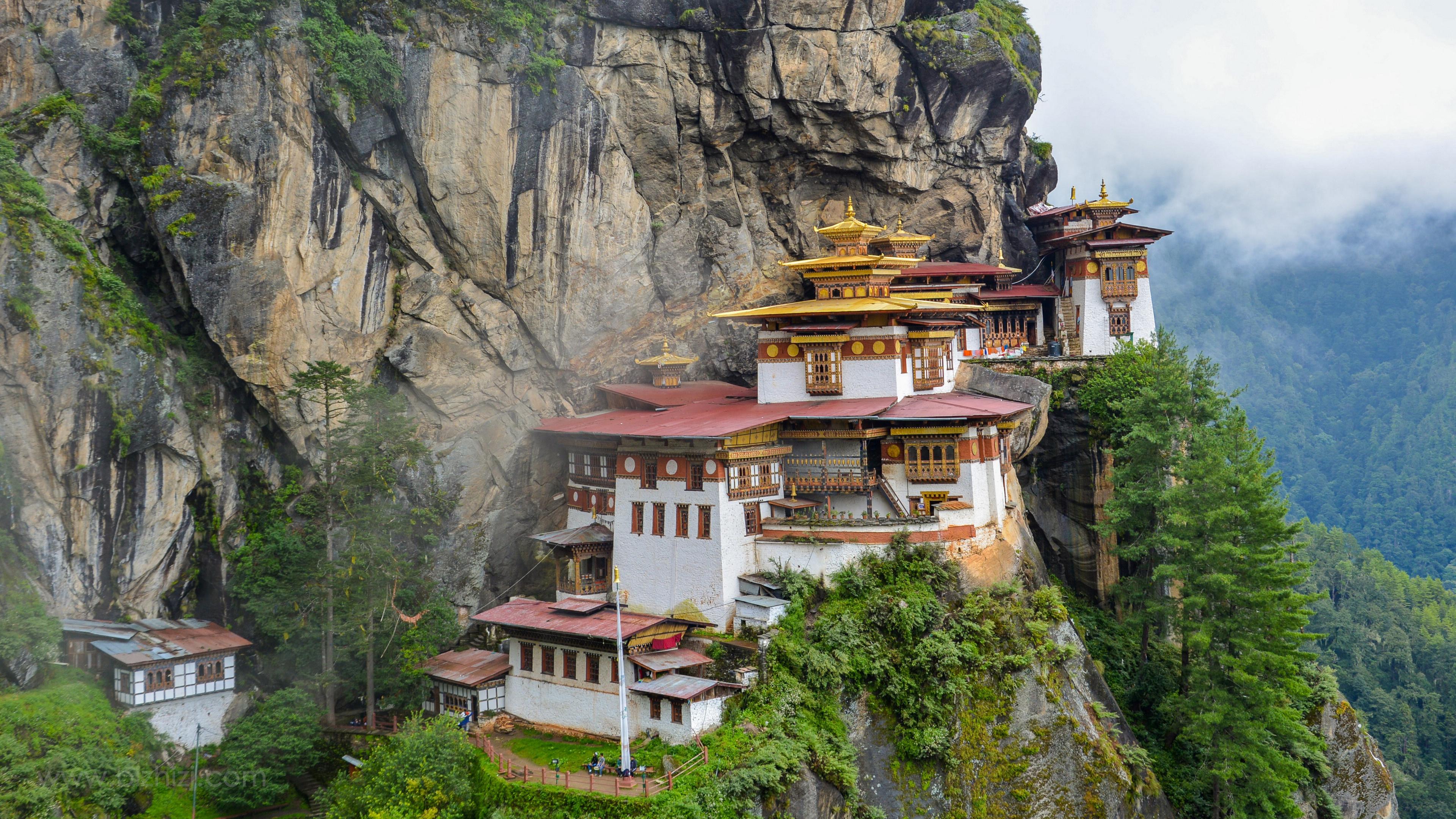 不丹虎穴寺漂亮的建筑图片