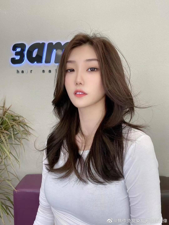 大学生女生发型韩式造型烫图片