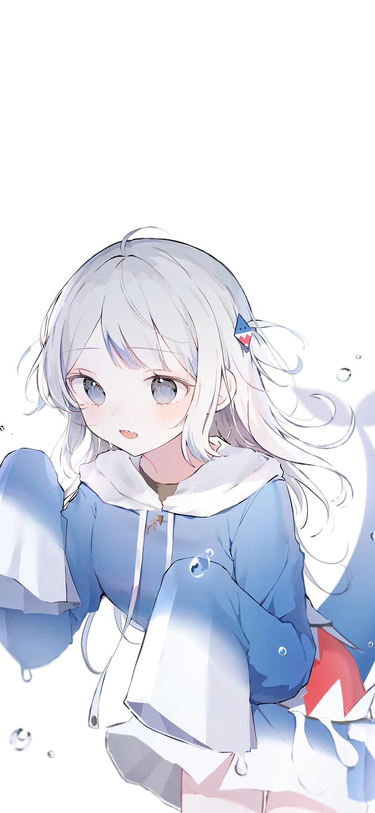 蓝色甜美少女动漫壁纸