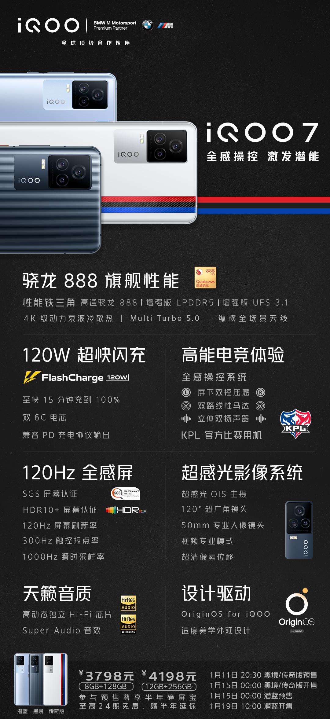 vivo iQOO 7智能手机正式发布:搭载高通骁龙888处理器-玩懂手机网 - 玩懂手机第一手的手机资讯网(www.wdshouji.com)