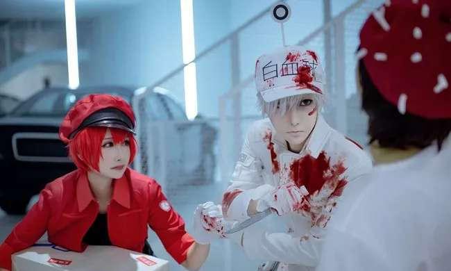 【Cosplay】工作细胞白细胞和红血球COS 小姐姐好美!