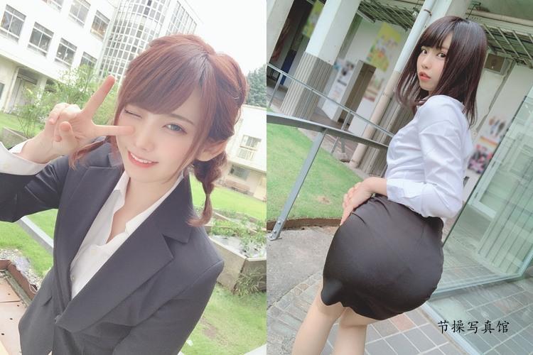 Coser@えなこ寫真圖片,化身辦公室小姐姐