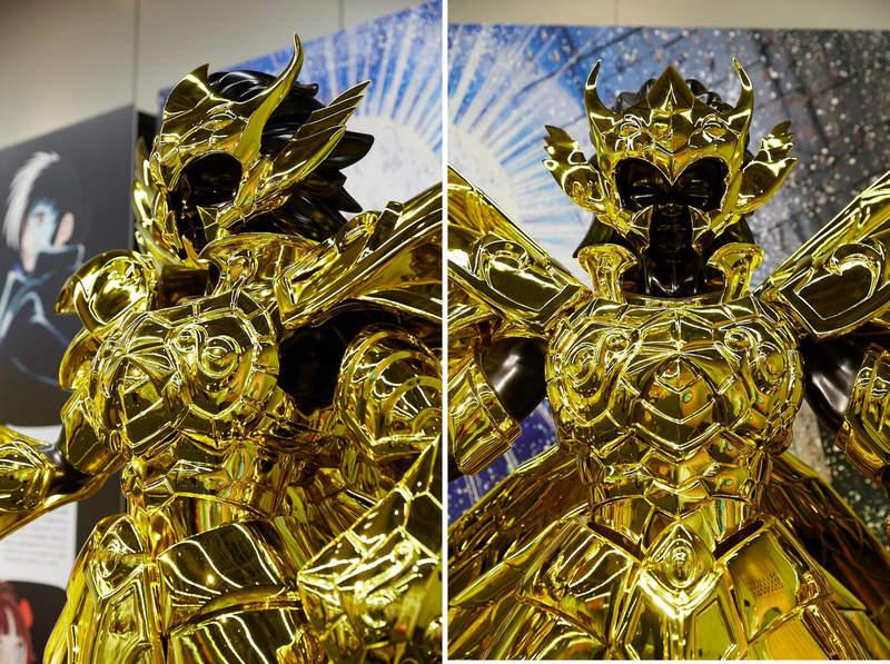 蛇夫座圣衣_圣斗士真实比例等身黄金圣衣,金光闪耀帅爆全场!真想穿一穿 ...